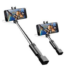 phone on selfie stick