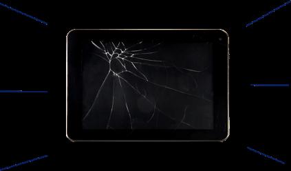 broken tablet screen