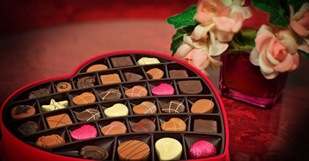 heart box of chocolate